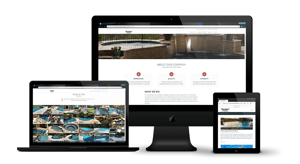 Swimming Pool Company Web Design & Marketing Pool-Spa Builders
