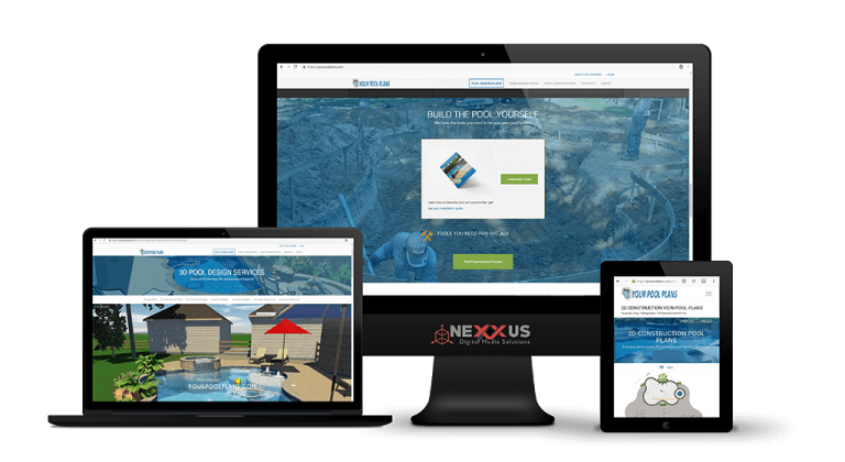 Pool spa company builders local seo web design for Pool design website